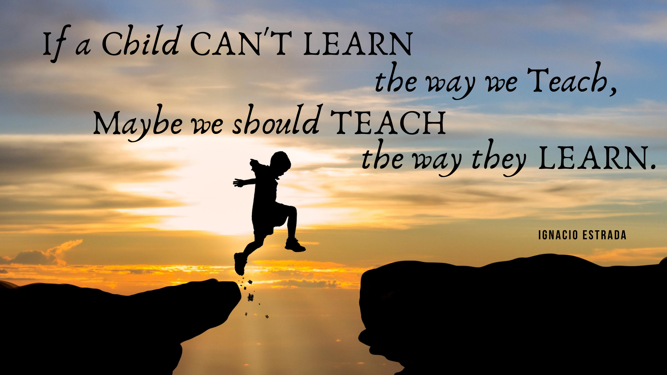 If a child can't learn